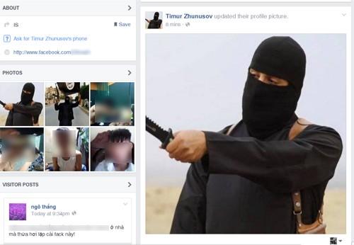 Tràn ngập tài khoản Facebook giả mạo là phiến quân khủng bố IS của người Việt