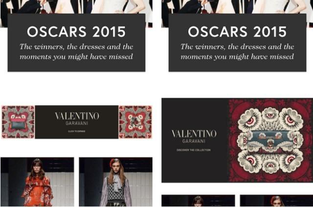 Hình ảnh bộ sưu tập Valentino trên các trang web