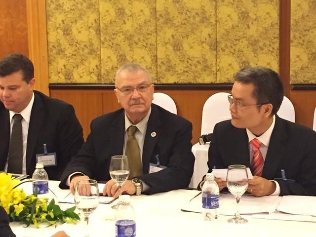 Ông Michael Michalak, Phó chủ tịch cấp cao Hội đồng kinh doanh Mỹ - ASEAN, nguyên Đại sứ Mỹ tại Việt Nam. Ảnh: Diệp Sa.