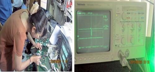 Hệ thống kiểm tra đồng bộ IC trên cột xăng tránh gắn chíp gian lận xăng dầu. Ảnh: Sở KHCN Đồng Nai