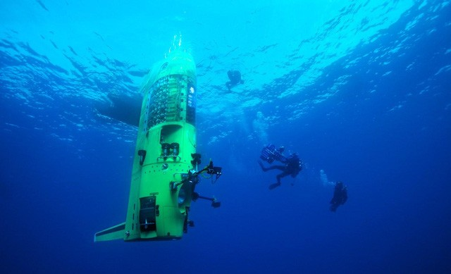 James Camerons Deepsea Challenge in the Mariana Trench in the Pacific