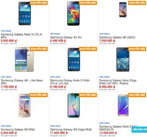 Thị trường smartphone 'xách tay' đã qua sử dụng ở Việt Nam rất nhộn nhịp, không thiếu những model dạng siêu phẩm vừa ra đầu năm.