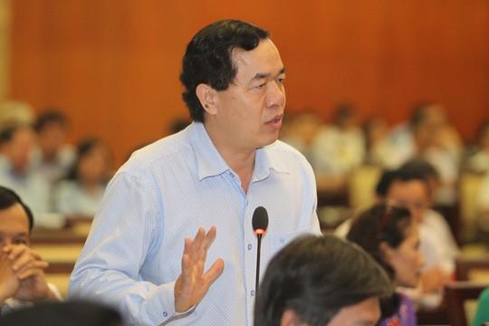 Giám đốc Sở Kế hoạch và Đầu tư TP Sử Ngọc Anh trả lời chất vấn của đại biểu