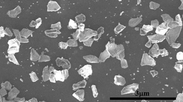 Hình ảnh độ phân giải cao của một hỗn hợp của nanodiamond và microdiamonds. Vi tinh thể kim cương Q-carbon.