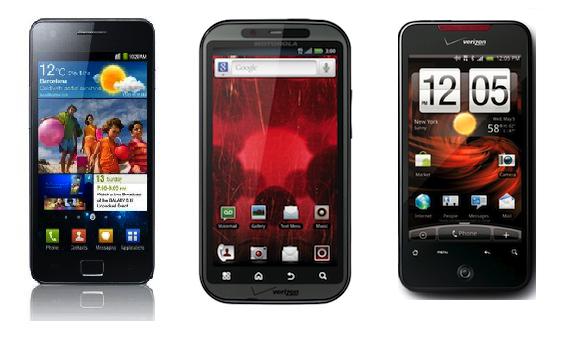 HTC mờ nhạt bên cạnh Samsung và Motorola.