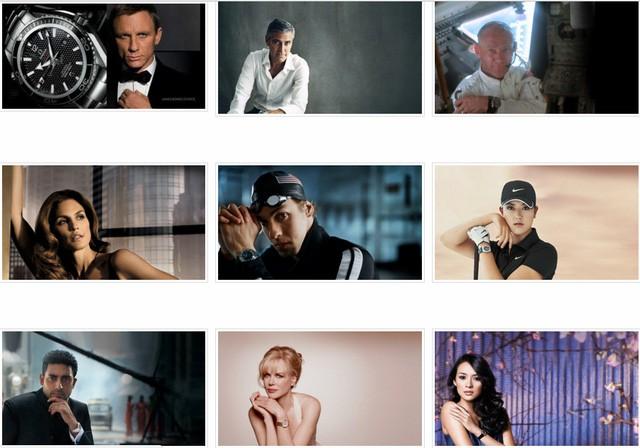 Các đại sứ Omega từ năm 2000 đến nay
