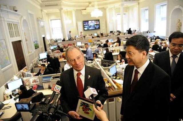 Tỷ phú Micheal Bloomberg tại văn phòng thị trưởng New York