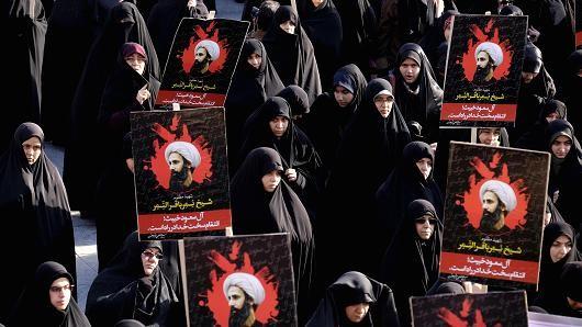 Người dân Iran biểu tình khi giáo sĩ Nimr Al Nimr dòng Shiite bị xử tử tại Ả Rập Xê Út