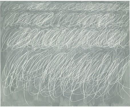 Đây là tác phẩm Untitled của họa sĩ Cy Twombly sáng tác vào năm 1970, bao gồm những nét vẽ loằng ngoằng trên một tấm bảng đen và được bán đấu giá 69,6 triệu USD vào năm 2014.