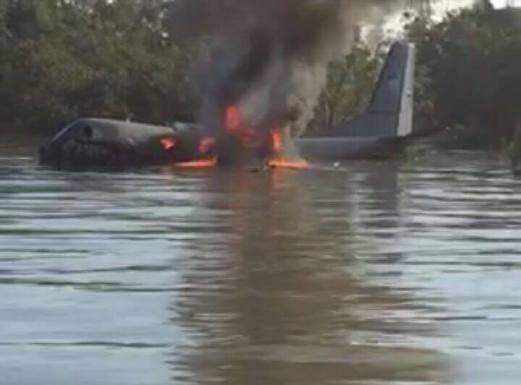 Chiếc máy bay của Không quân Hoàng gia Malaysia gặp nạn. Ảnh: New Straits Times