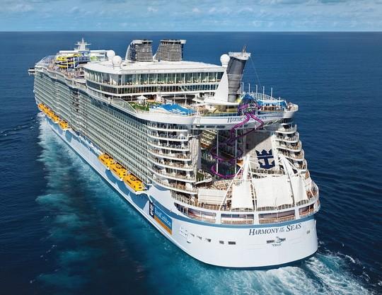Con tàu Harmony có thể phục vụ cho 6.360 khách. Ảnh: Daily Mail