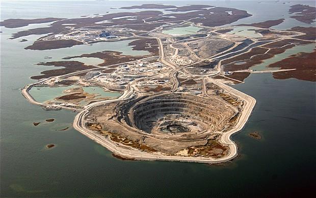 Mỏ kim cương Diavik ở Canada do công ty Rio Tinto khai thác