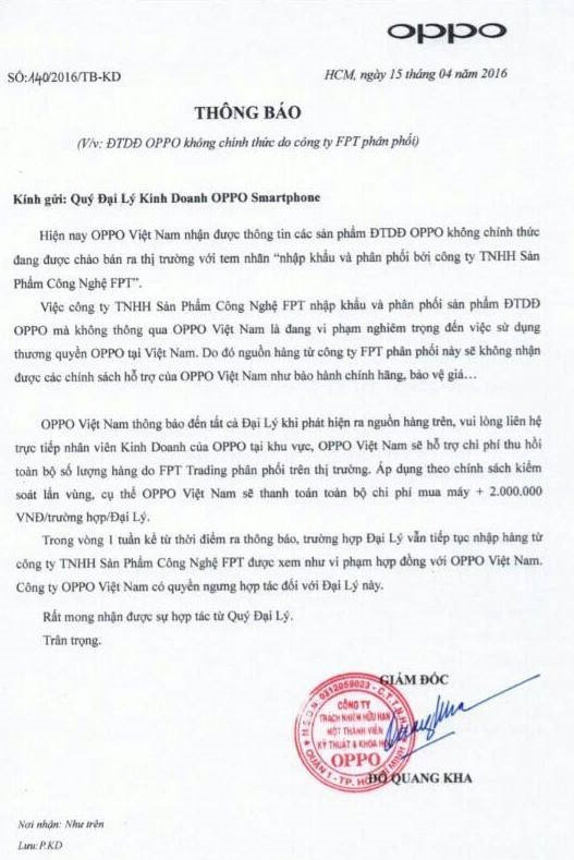 Oppo VN phan don, ho tro dai ly mua lai dien thoai tu FPT hinh anh 2