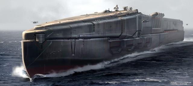 Tàu cứu hộ Made in China trong bộ phim 2012
