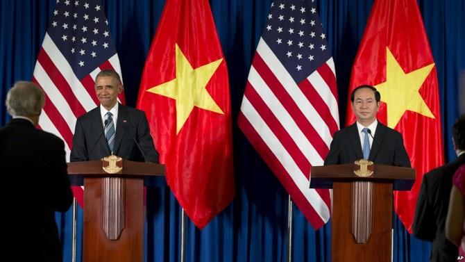 Chủ tịch nước Trần Đại Quang, Tổng thống Mỹ Barack Obama