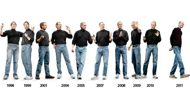 Qua rất nhiều năm dường như Steve Jobs vẫn chỉ có một bộ quần áo quen thuộc