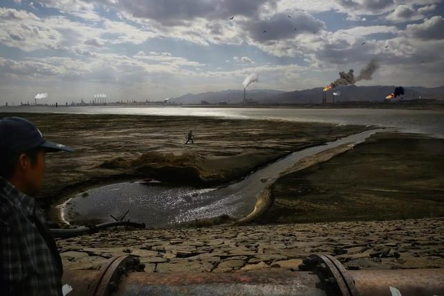 Chất thải từ nhà máy xử lý đất hiếm.