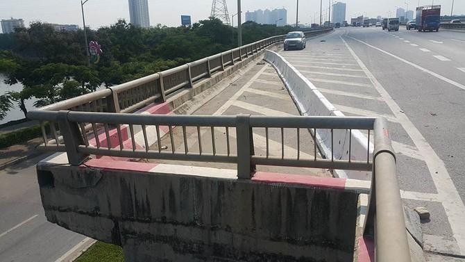 đường vành đai 3, ô tô rơi, đường trên cao, góc cụt đường trên cao, ô tô rơi từ đường trên cao