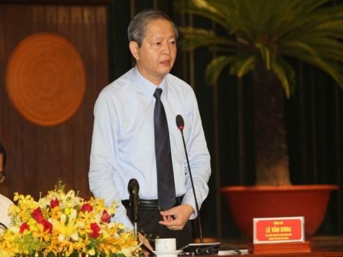 Phó chủ tịch UBND TP Lê Văn Khoa: Tiếp tục công khai dự án có thế chấp ngân hàng - Ảnh: Khả Hòa