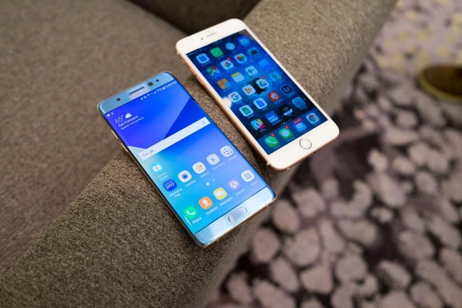 iPhone 6s Plus đọ dáng cùng Samsung Galaxy Note7.