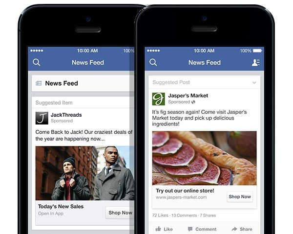 Quảng cáo trên Facebook đáp ứng đúng nhu cầu native ads - không giàm gián đoạn trải nghiệm người dùng và cũng truyền tải được thông điệp rõ ràng hơn.
