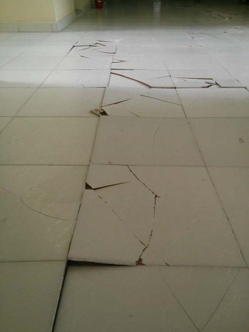 Ký túc xá 'hiện đại nhất VN' bỗng nứt toác sàn, sinh viên hoang mang - ảnh 4