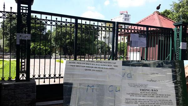 Cưỡng chế tại Hồ Văn, Văn Miếu bị xâm phạm