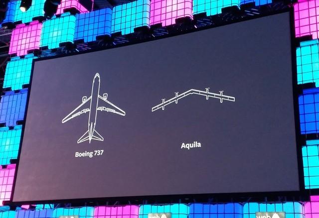 Độ dài sải cánh của Aquila khi so với Boeing 737.