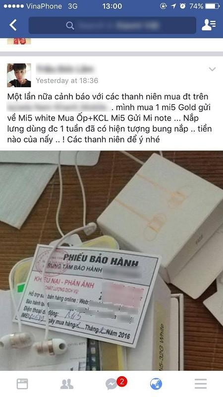 Mua Xiaomi Mi 5 Gold lại nhận Xiaomi Mi 5 White...