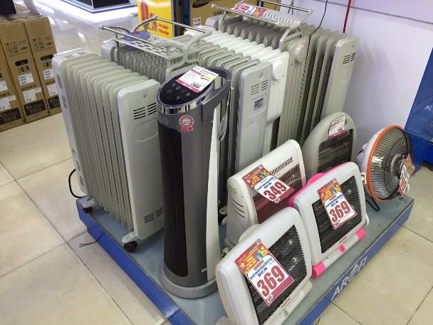 Thị trường thiết bị sưởi ấm: Sôi động từ đầu vụ