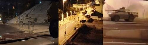 Phương tiện quân sự được triển khai tại Caracas. Ảnh: Twitter.