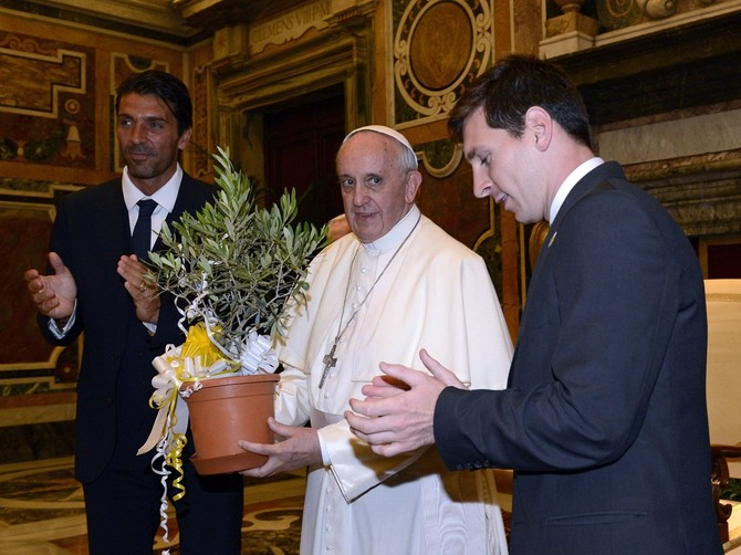 Or when he got a private meeting with the pope, himself a huge soccer fan.