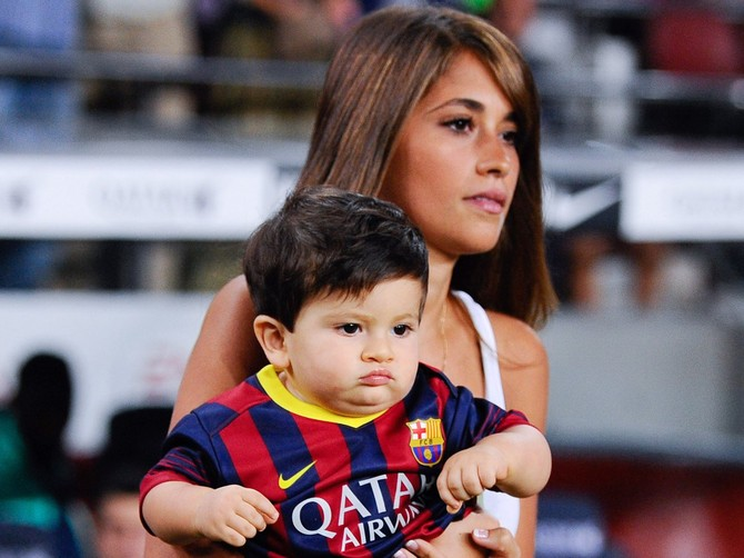 They have a baby named Thiago.