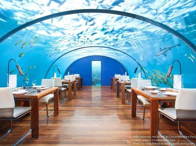 Hilton has collected some even more impressive holdings since then — like the Conrad Maldives, which has a restaurant under the sea.