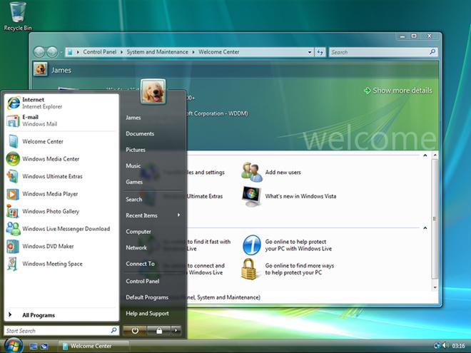 Từng được kì vọng rất nhiều nhưng số phận của Windows Vista lại chẳng khá hơn bao nhiêu so với Windows ME. Microsoft đã mất 6 năm để xây dựng và hoàn thiện phiên bản này. Nhưng cuối cùng người dùng chỉ nhận được một giao diện Aero bóng bẩy kèm với nâng cấp tính năng bảo mật. Điều đặc biệt, Windows Vista khá kén phần và kiểm soát tài khoản người dùng rất chặt khiến phiên bản này bị chỉ trích nặng nề. Windows Vista vẫn được xem là một trong những thất bại cay đắng của gã phần mềm khổng lồ.