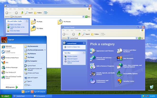 Windows XP là kết quả kết hợp nỗ lực của Microsot từ sự nỗ lực kết hợp người dùng cá nhân và đối tượng doanh nghiệp. Windows XP cũng được thiết kế cho hệ thống máy tính dùng cho khách và máy chủ trong các doanh nghiệp. Dựa trên Windows NT, nó được thiết kế để được an toàn với bảo vệ tập tin mới, một bộ nhớ cache DLL, và phần cứng plug and play.