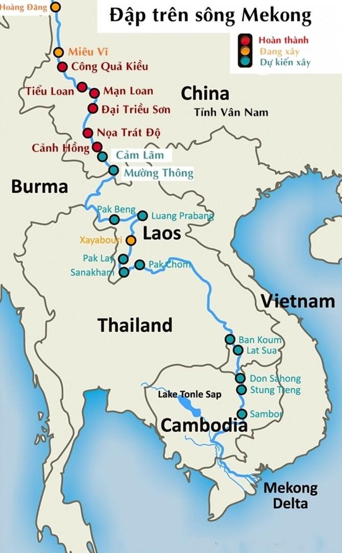Các đập trên song Mekong