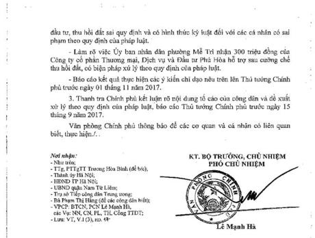 Ha Noi: Ong Nguyen Van Hai da ky nhung van ban gi lien quan vu thu hoi dat tai Me Tri? - Anh 2