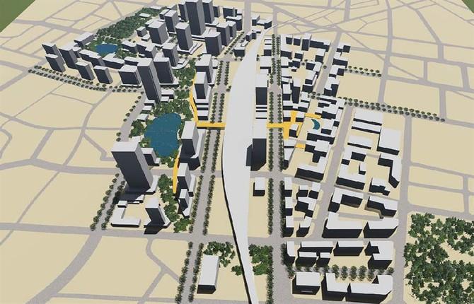 """Đồ án quy hoạch ga Hà Nội sẽ """"cao ốc hoá"""" trung tâm Hà Nội (Ảnh chụp từ đồ án)."""