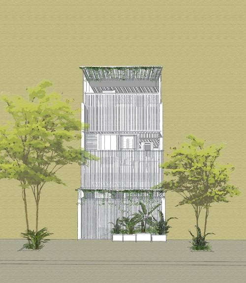 Ngôi nhà dần biến mất trong rặng cây ở Nha Trang