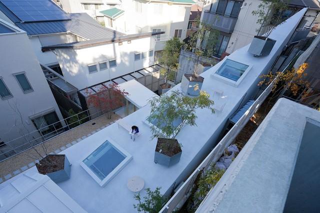 Ngắm ngôi nhà độc, lạ hệt như tảng băng trôi ở Nhật - Ảnh 1.