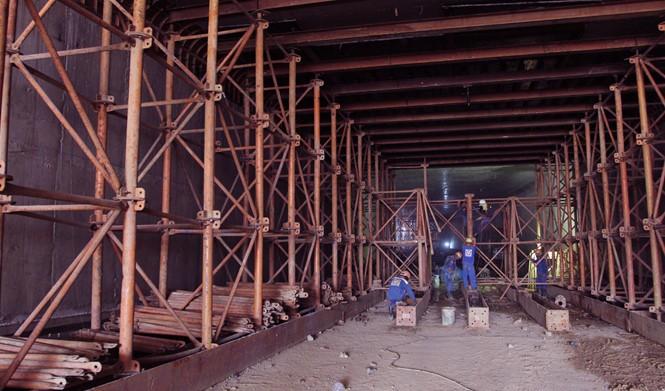 Cận cảnh hầm chui An Sương sắp hoạt động để giảm kẹt xe cửa ngõ TP.HCM - ảnh 6
