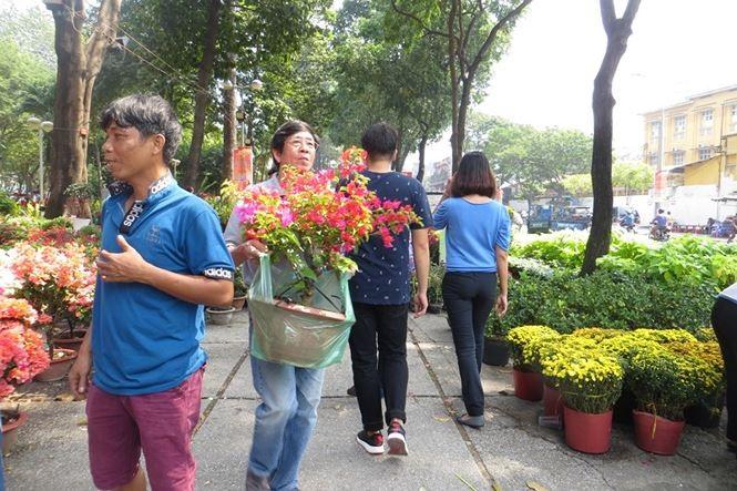 Lo bị 'ép rác', hoa tết xả hàng sớm ở Sài Gòn - ảnh 9
