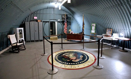 Một hầm ngầm từng dùng làm nơi trú ẩn cho tổng thống Mỹ. Ảnh: AFP.