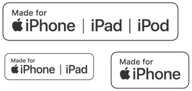 Bộ biểu tượng MFi mới được Apple thay đổi /// Ảnh chụp màn hình