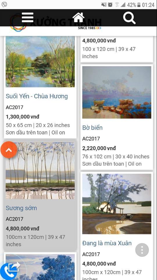 Giới họa sĩ phẫn nộ về trang web vô tư mời chào bán tranh chép - ảnh 2