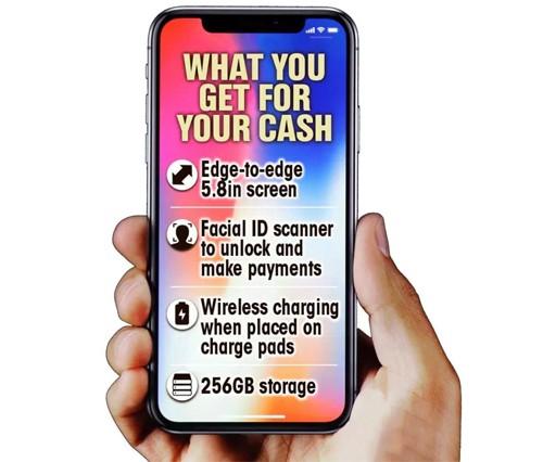 Bỏ ra gần 1.200 USD, người dùng iPhone sẽ có thêm màn hình không viền, nhận diện khuôn mặt, sạc không dây và bộ nhớ 256 GB.
