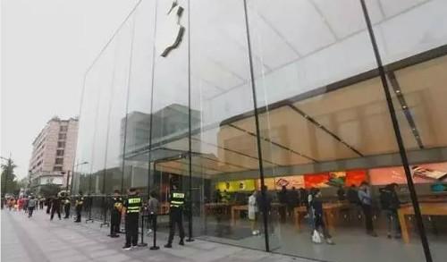 Apple Store tại Hong Kong cũng không quá nhộn nhịp.