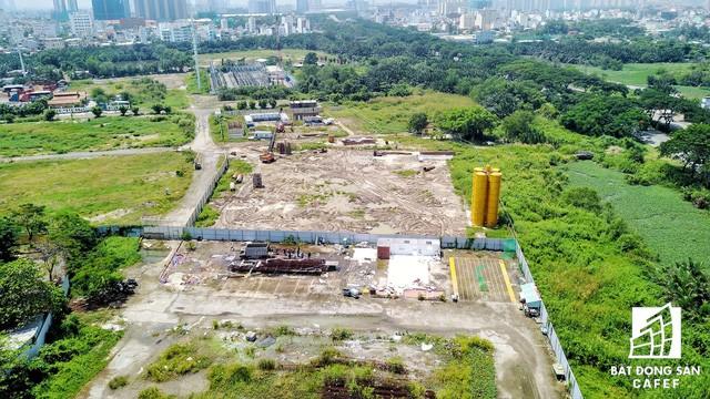 Khu vực Hoàn Cầu đang san lắp mặt bằng xây dựng dự án Diamond City 15.000 tỷ dồng