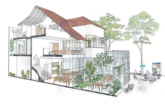 Biệt thự phủ kín cây xanh từng là nhà xuống cấp ở Sài Gòn